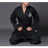 Embroidery black taekwondo clothes