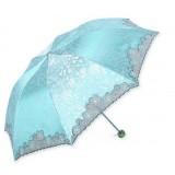 Embroidery UV protection folding sun umbrella