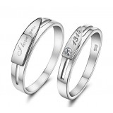 Eternal love couples sterling silver ring