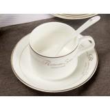 European-style 150ml white ceramic mug