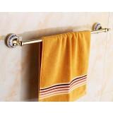 European-style copper golden towel holder