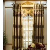 European-style flannel embroidered curtains