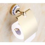 European-style golden bathroom roll holder