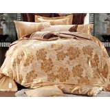 European style cotton satin 4pcs bedding sheet set