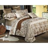 European style cotton satin 4pcs bedding sheet set for hotel