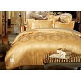 European style luxury cotton satin 4pcs bedding sheet set