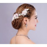 European style pale pink bridal hair accessories
