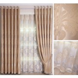European style plant pattern curtains
