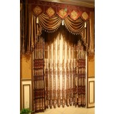 European style retro exquisite embroidered curtains