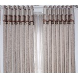 European style solid color semi-shade curtains
