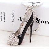 Exquisite alloy high heels keychain