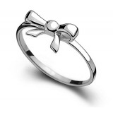 Fashion female pinky bowknot silver ring