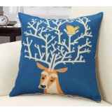 Fashion printed linen pillow cover