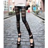 Fashion sexy lace stitching leggings