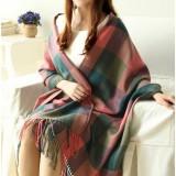 Fashion soft and warm Long lattice knitting scarf