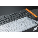 Fashion USB Wired Multimedia Keyboard