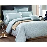 Feathers patterns cotton satin 4pcs bedding sheet set for hotel