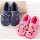 Fight color cartoon plush slipper