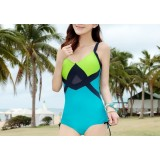 Fight color sexy one-piece swimsuit