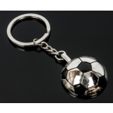 Fine zinc alloy football keychain