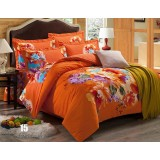 Flowers thicker cotton series 4pcs bedding sheet set
