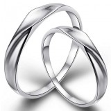 Forever love couples sterling silver ring