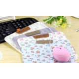 Garden style PU leather mouse pad