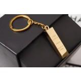 Gold zinc alloy keychain
