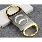 Golden classic stainless steel cigar cutter