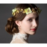 Golden flowers hair accessories
