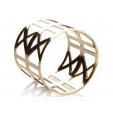 golden hollow napkins ring