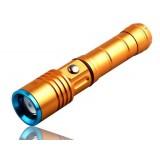 Golden Mini zooming LED Flashlight 18650 Battery