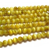 Golden tiger eye crystal beads chain