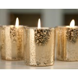 Golden wedding aromatherapy candle