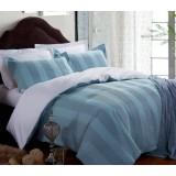 Gray striped cotton satin series 4pcs bedding sheet set for hotel