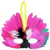 Halloween feather masks