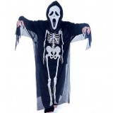 Halloween skull clothes + gloves + mask