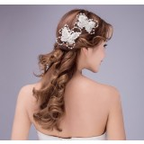 Handmade butterfly pearl hair accessories