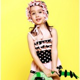 Harnesses skirt style children one-piece swimwear