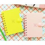 Hasp coil binding notebook