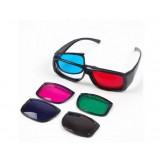 HD 3d glasses / three sets of lenses