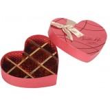 Heart-shaped chocolate packing box