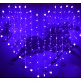 Heart-shaped curtains 124 LED holiday lights
