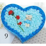 Heart-shaped gift box of roses
