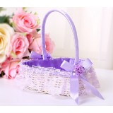 Heart-shaped lace Flower Girl Baskets