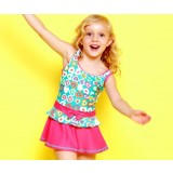 Heart girl child one-piece swimwear