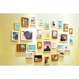 Heart Wooden Picture Frames Set