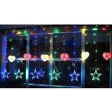 Hearts and Stars LED holiday lights