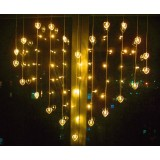hearts curtains 59 LED holiday lights