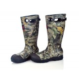 High-cut antiskid camouflage hunting boots